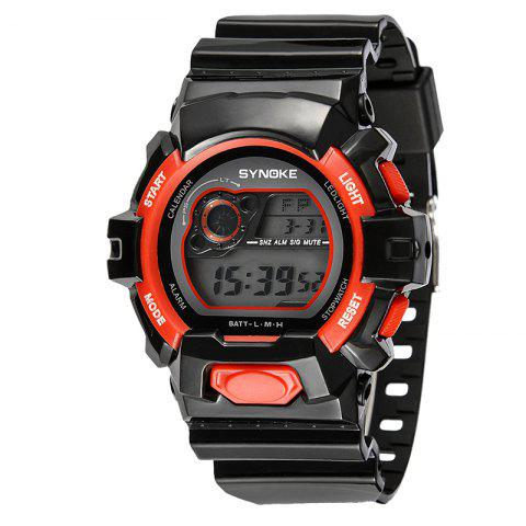 SYNOKE 67556 Sports Fashionable Man Electronic Watch - RED