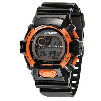 SYNOKE 67556 Sports Fashionable Man Electronic Watch - ORANGE ORANGE
