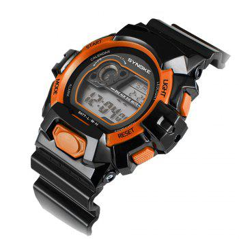 SYNOKE 67556 Sports Fashionable Man Electronic Watch - ORANGE