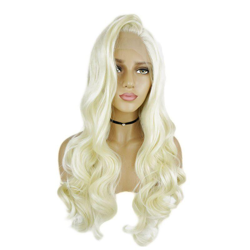 Long Blonde Hair Lace Front Wig Synthetic Heat Restaurant new arrival blonde hair loose wave wig synthetic lace front wigs for women heat resistant fiber long free shipping l