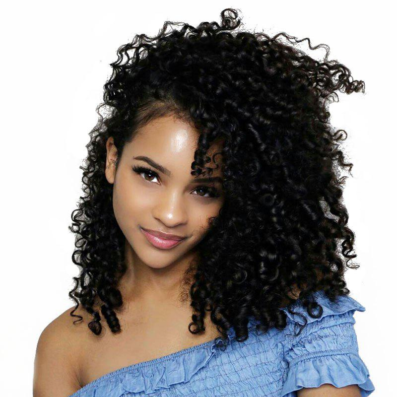 Kinky Curly Lace Front Wig Synthetic Black Woman With Baby Hair long free part fluffy kinky curly synthetic lace front wig