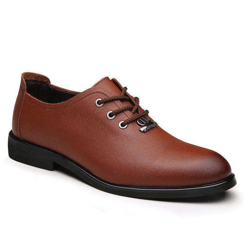 2018 Menu0026#39;s Dress Shoes Business Durable Pointed Toe Lacing Formal Shoes BROWN In Formal Shoes ...