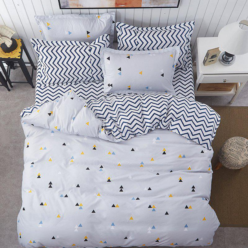 Fashion Creative Space Personalized Polyester Bedding Set - WHITE QUEEN