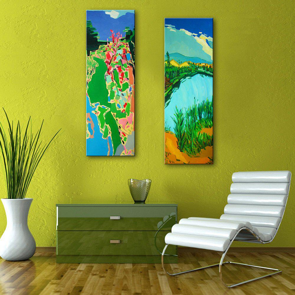 2018 Special Design Frameless Paintings Abstract Hand-Painted ...