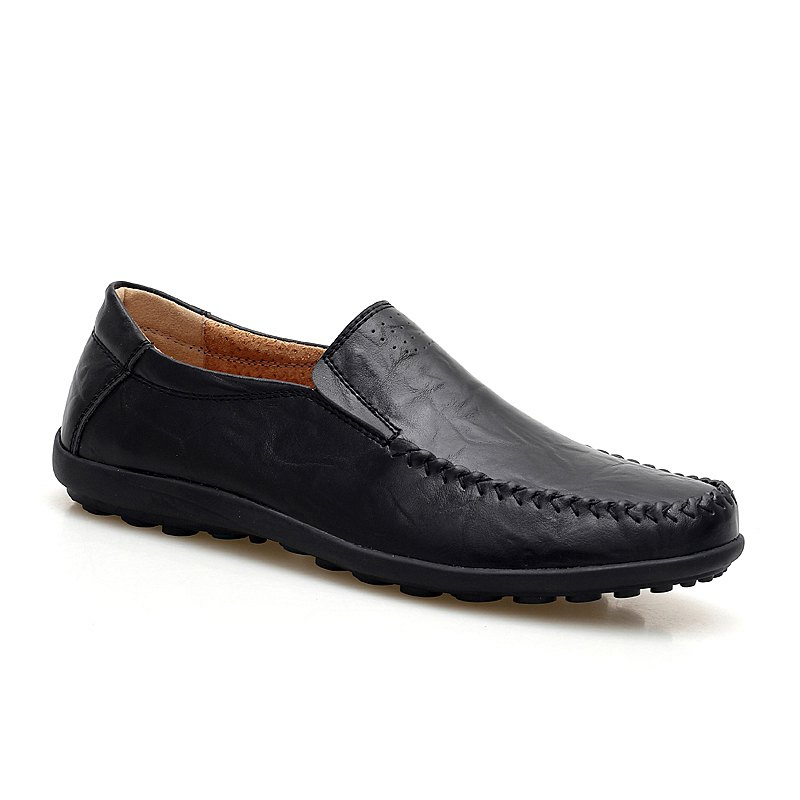 Set Foot Genuine Leather British Style Doug Shoes - BLACK 39