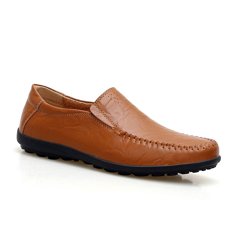 Set Foot Genuine Leather British Style Doug Shoes - BROWN 43