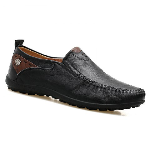 Doug Genuine Leather Business Shoes - BLACK 43
