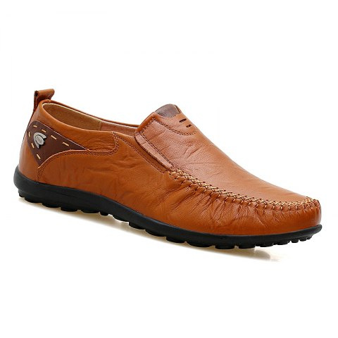 Doug Genuine Leather Business Shoes - BROWN 40
