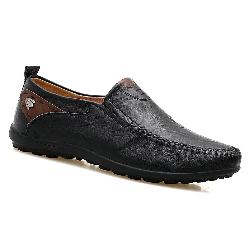 Doug Genuine Leather Business Shoes - BLACK 42