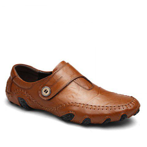 Doug Shoes Octopus Genuine Leather - BROWN 41