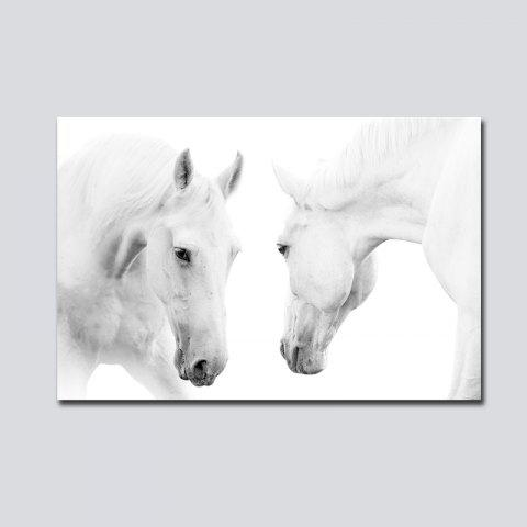 QiaoJiaHuaYuan No Frame Toile Nordique Vent Simple Cheval Blanc Salon Décoration Imprimer - multicolore 60CM X 90CM