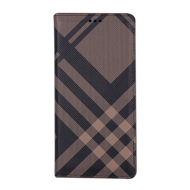 Grid Seven Pattern PU Leather Case for Samsung Galaxy Note8 - BROWN