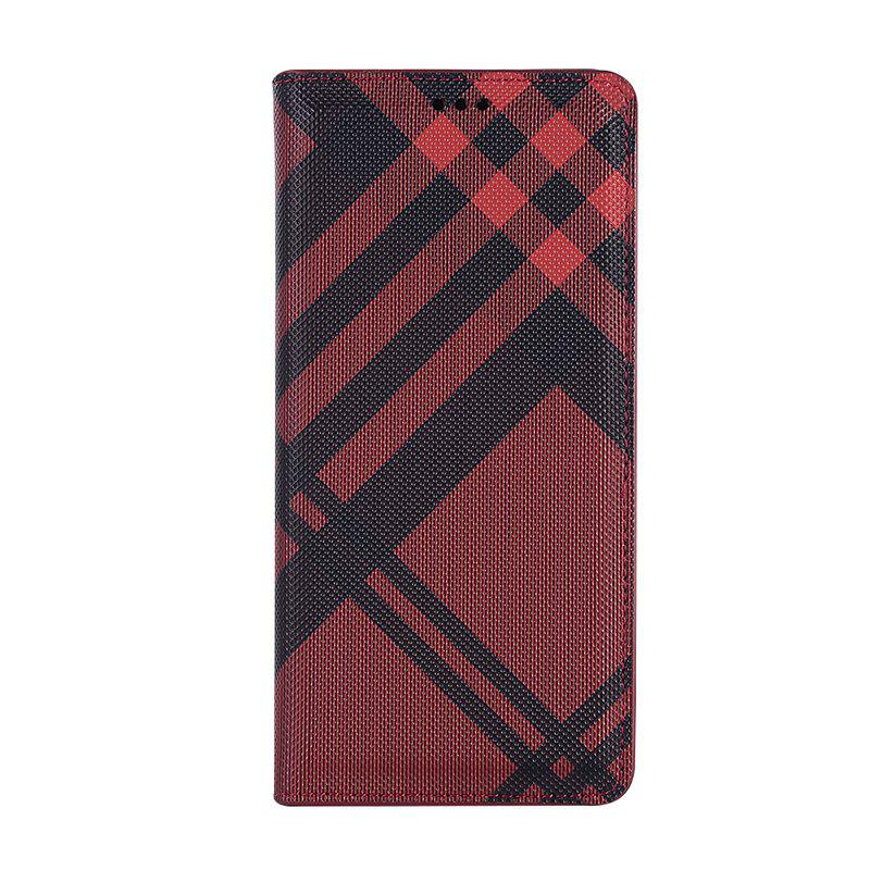 Grid Seven Pattern PU Leather Case for Samsung Galaxy Note8 - RED