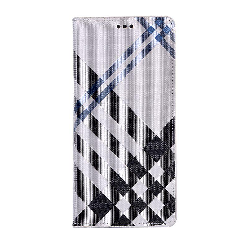Grid Seven Pattern PU Leather Case for Samsung Galaxy Note8 - WHITE