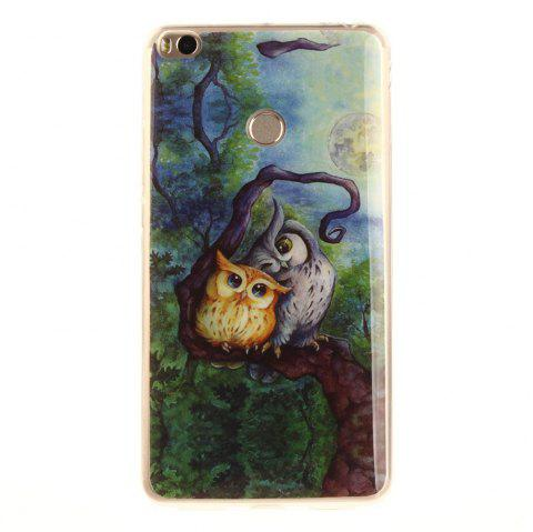 Oil Painting Owl Soft Clear IMD TPU Phone Casing Mobile Smartphone Cover Shell Case for Xiaomi Mi Max 2 - COLORMIX