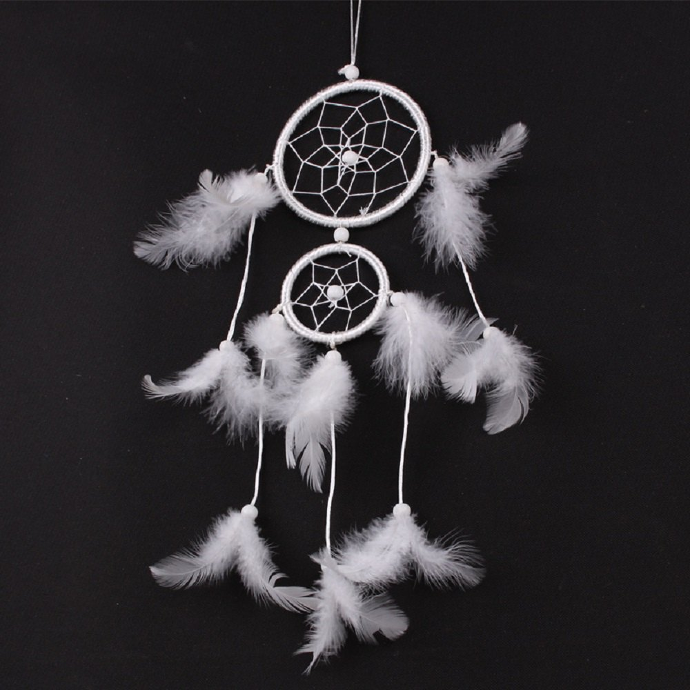 Second Ring Dream Catcher Feather Ornaments Car Room Decoration