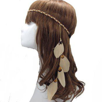 Original Handmade Feather Hair Accessories Indian Feather Jewelry - KHAKI KHAKI