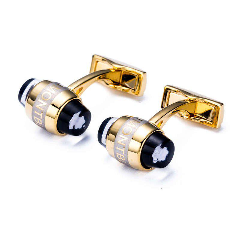 Men's Cufflinks Alloy Creative Design High Quality Cuff Buttons Accessory - GOLDEN