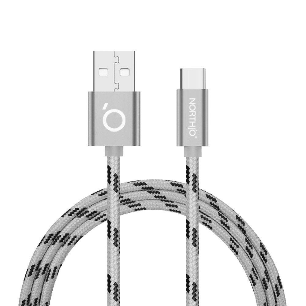 NORTHJO Type-C to USB Charging Data Cable - 1M - SILVER