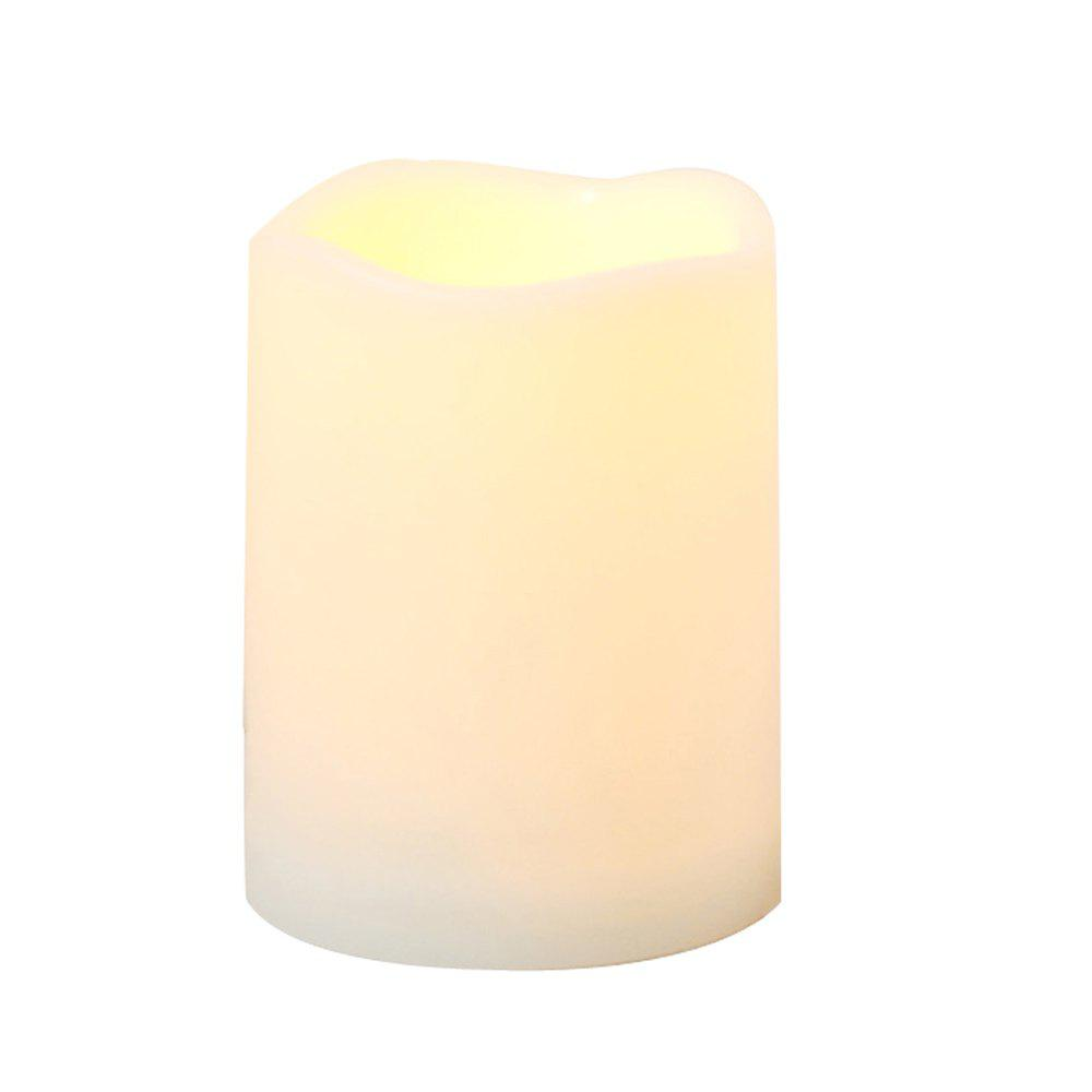 Outdoor Flameless Candle with Timer Plastic Realistic Flickering - IVORY COLOR 1PC
