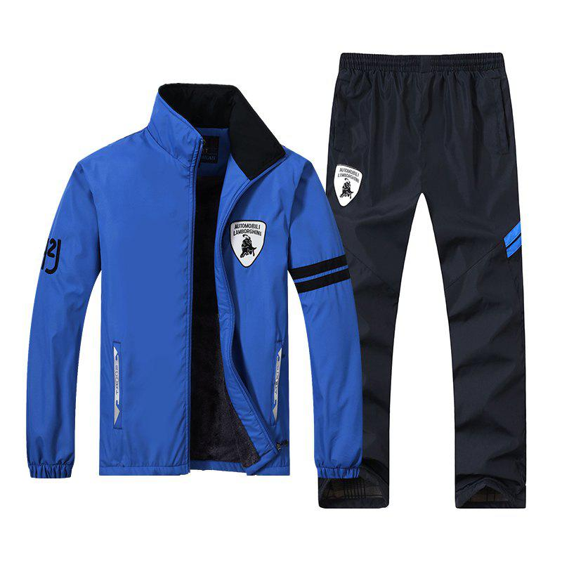 2017 New Fashion Running Sports Suits - BLUE L
