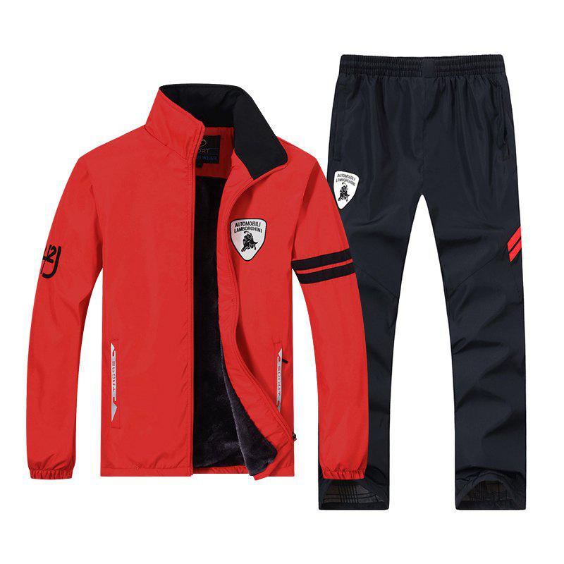 2017 New Fashion Running Sports Suits - RED 4XL