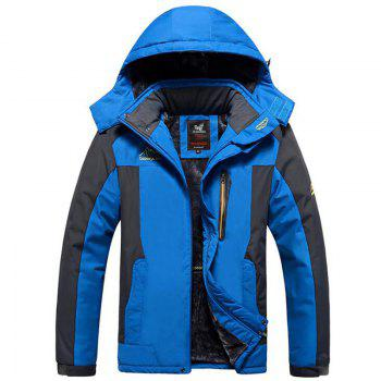 Men Windproof Rain-Proof Waterproof Jacket - BLUE BLUE