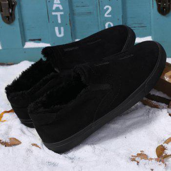 Men Breathable Outdoor Anti-Skid Tourism Sneakers Warm Shoes - BLACK BLACK