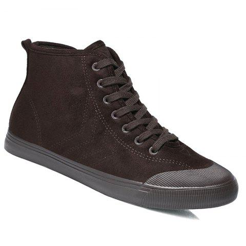 Men Breathable Soft Outdoor Anti-Skid Tourism Sneakers Warm Shoes - BROWN 41