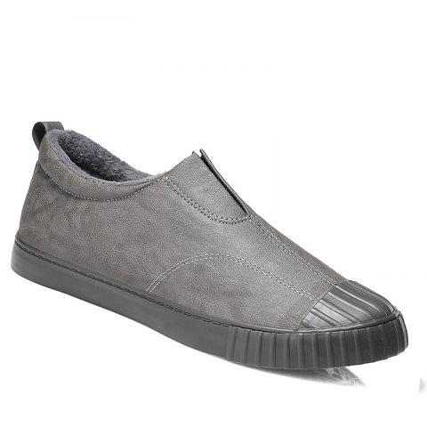 Men Breathable Soft Outdoor Sneakers Warm Tourism Anti-Skid Shoes - DEEP GRAY 39