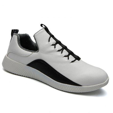 Men Casual Warm Sneakers Breathable Hiking Classics Style Shoes - WHITE 44