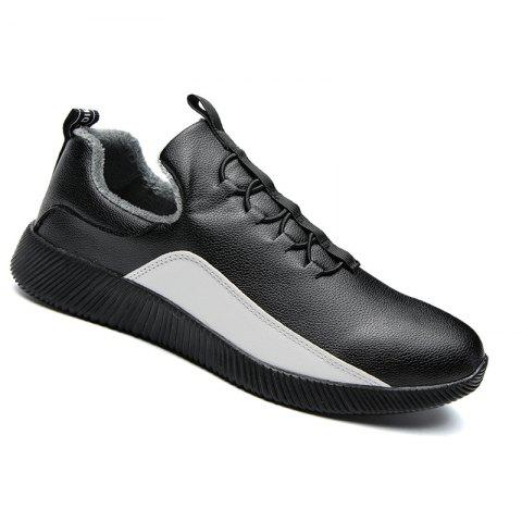 Men Casual Warm Sneakers Breathable Hiking Classics Style Shoes - BLACK 39