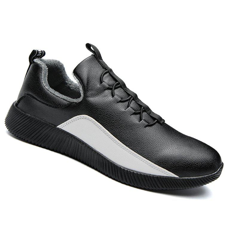 Men Casual Warm Sneakers Breathable Hiking Classics Style Shoes - BLACK 41