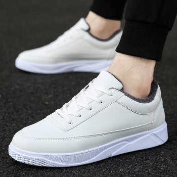Men Casual Warm Sneakers Breathable Classics Style Shoes - WHITE WHITE