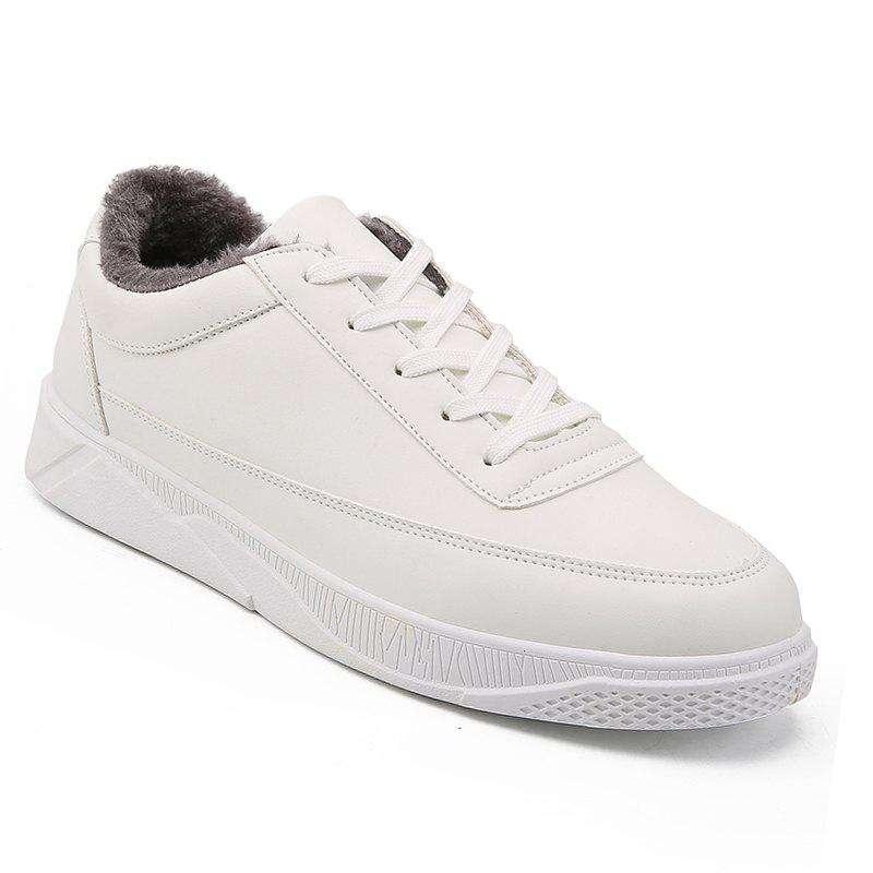 Men Casual Warm Sneakers Breathable Classics Style Shoes - WHITE 41