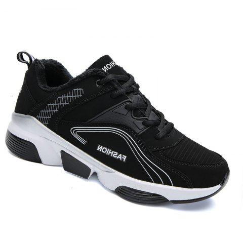 Men Outdoor Casual Warm Sneakers Breathable Classics Style Sport Shoes - BLACK 44