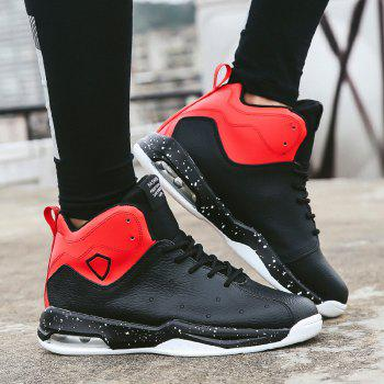 Men Basketball Casual Warm Sneakers Breathable Classics Style Sport Shoes - BLACK/RED BLACK/RED