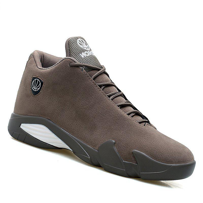 Men Basketball Casual Sneakers Breathable Classics Style Sport Shoes - BROWN 43