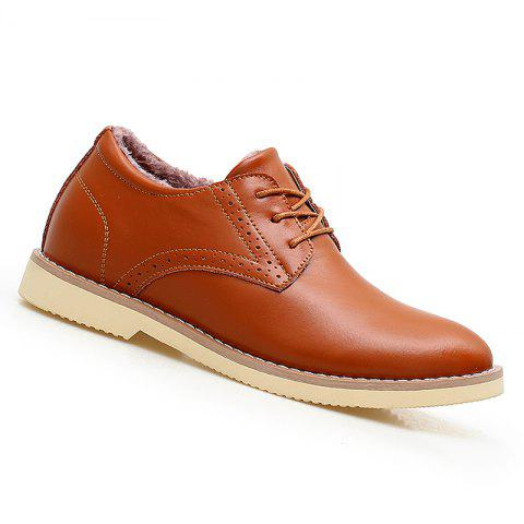 Men Warm Casual Sneakers Breathable Classics Style Sport Shoes - BROWN 39