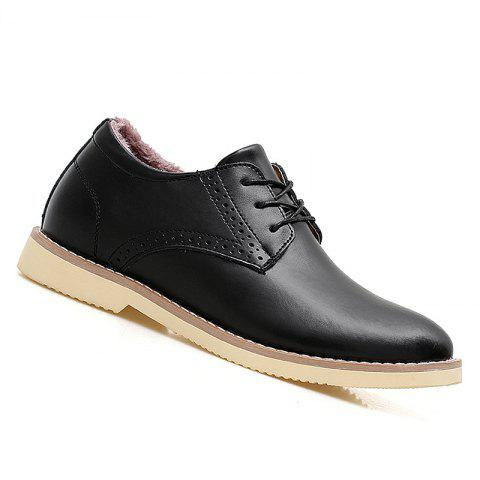 Men Warm Casual Sneakers Breathable Classics Style Sport Shoes - BLACK 38