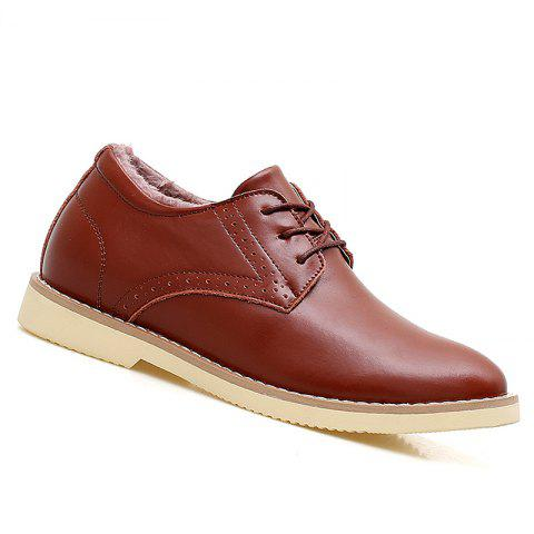 Men Warm Casual Sneakers Breathable Classics Style Sport Shoes - WINE RED 42