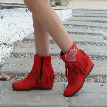Short Spike with Fashionable Tassels Inside The Round Head - RED RED