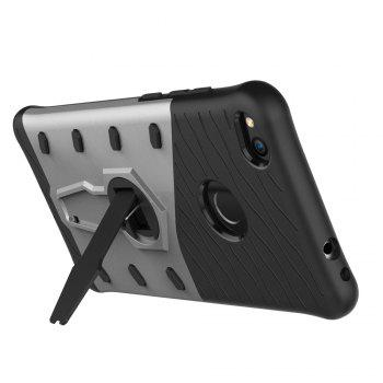 Shockproof with Stand 360 Rotation Back Cover Contrast Color Hard PC Case for Huawei P8 Lite (2017) - SILVER