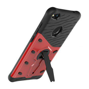 Shockproof with Stand 360 Rotation Back Cover Contrast Color Hard PC Case for Huawei P8 Lite (2017) - RED