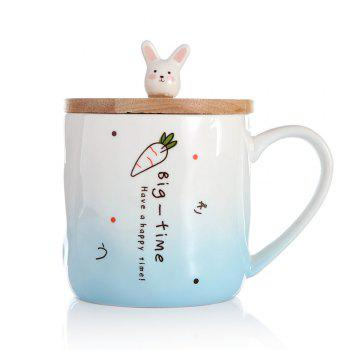 400ML Creative Rabbit Ceramic Cup - BLUE BLUE
