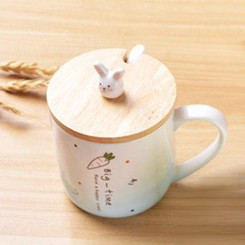 400ML Creative Rabbit Ceramic Cup -  BLUE