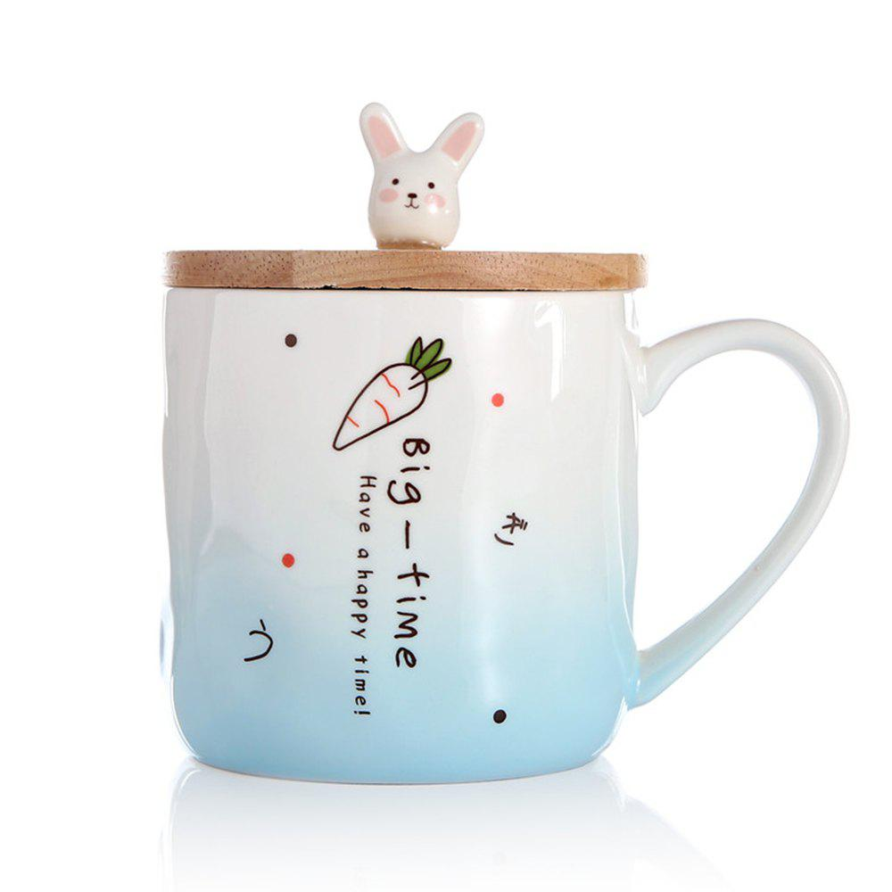 400ML Creative Rabbit Céramique Tasse - Bleu