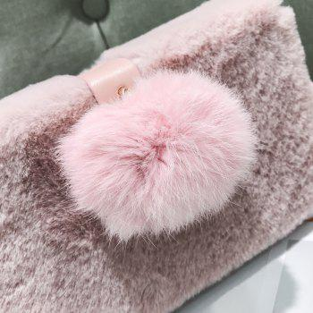 Small Package Type Decorative Hair Ball Winter New Plush Single Shoulder Bag Messenger Bag -  PINK