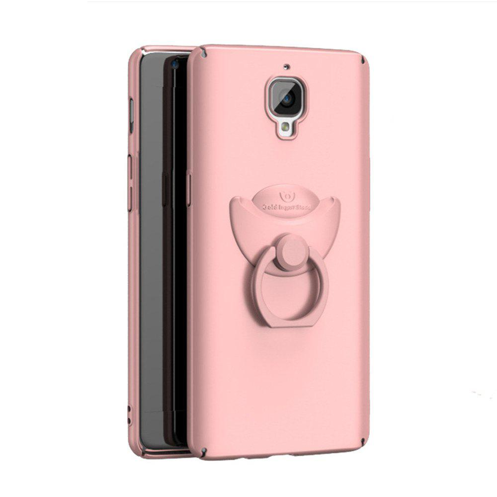 Full-body Protective The Outer Ring Cell Phone Holder Case for One Plus 3 - ROSE GOLD