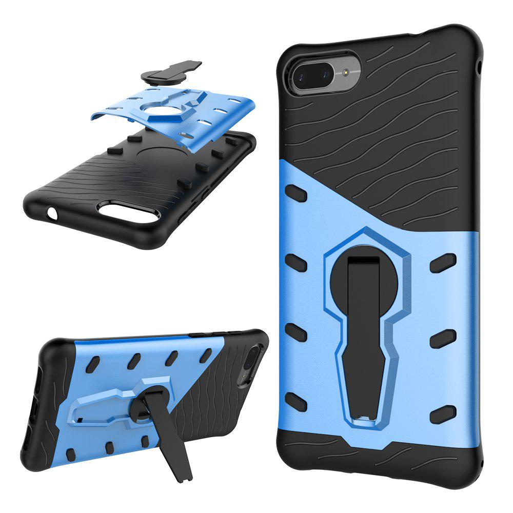 Cover for Asus Zenfone 4 Max ZC520KL Cool Mobile Phone Protection Shell + Stent - BLUE